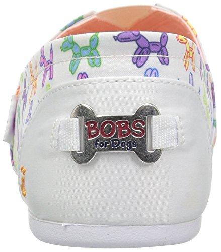Bobs Van Skechers Womens Bobs Plush-balloon Plat Wit / Multi