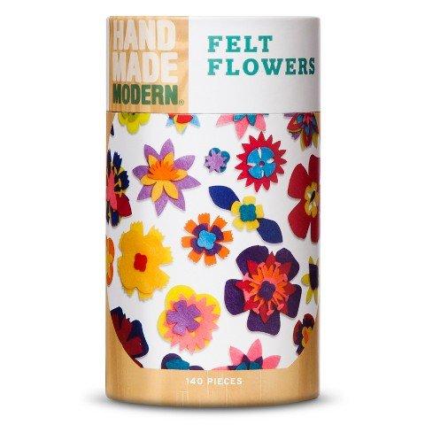 Hand Made Modern – 140ct Flowers Felt Shapes – Assorted