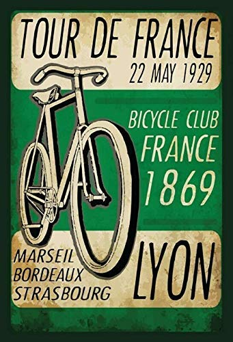Jeremy Mann Tour France 1929 Metal Sign Rectangle Metal Tin Sign Custom Metal Sign 12X8in-Bar Cafe Restaurant Home Decor