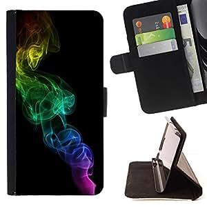 Colores del arco iris Negro minimalistas- Modelo colorido cuero de la carpeta del tirón del caso cubierta piel Holster Funda protecció Para Apple (5.5 inches!!!) iPhone 6+ Plus / 6S+ Plus