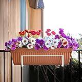 Snow Joe FPH1901W Adjustable Flower Box Holder, White