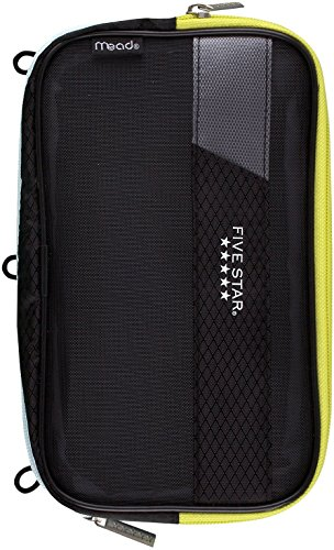 Mead Five Star Expandable Pop-Up Pouch / Case, Dark Gray (50218) ()