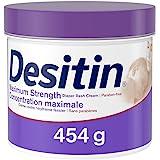 Desitin Diaper Rash Cream for Baby, Zinc Oxide Cream, Maximum Strength, 454g