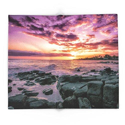 Society6 Purple, Kauai, Hawaii, Poipu 88'' x 104'' Blanket by Society6