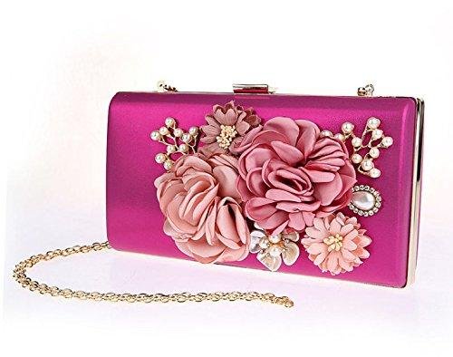 Bolso De La Flor De Las Señoras Paquete Nupcial Paquete Nupcial Vestido De La Bolsa Rose