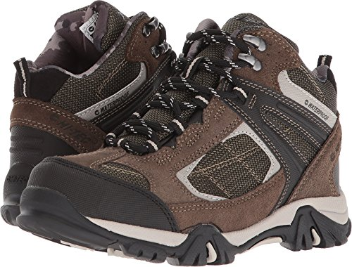 Hi Tec Waterproof Heels - Hi-Tec Kids' Altitude Lite II I WP Boots Dark Taupe/Olive Night/Warm Grey 2 M