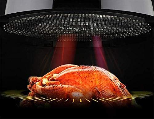 Pkfinrd Air Fryer - Grande capacité supplémentaire, 4,5 pintes, 1400 Watt électrique à air Chaud Cuisinière, Bouton de Commande numérique, Bonus livret de Recettes.