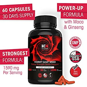 Pure Horny Goat Weed with Maca & Tribulus, Female & Male Enhancement Fast Acting Pills, Natural Energy, Performance, Libido Booster & Sexual Health | 60 1590 mg Optimum Dosage natural male enchantment - 51zFKUA7FaL - natural male enchantment