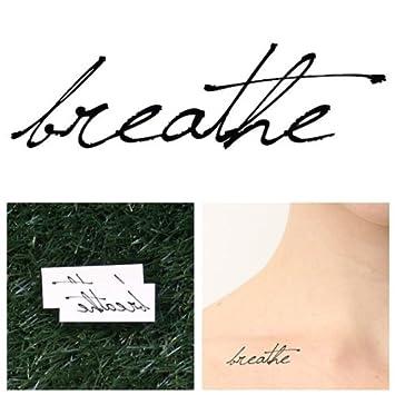 Amazon.com : Tattify Breathe Temporary Tattoo - Just (Set of 2 ...