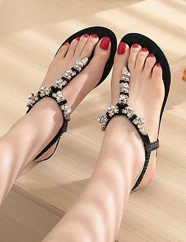 Sandaalit Musta Shangyi Kulta Synteettinen Kenkiä Mekko Naisten Matalan Hopea Kantapää Slingback r8q6xY81w