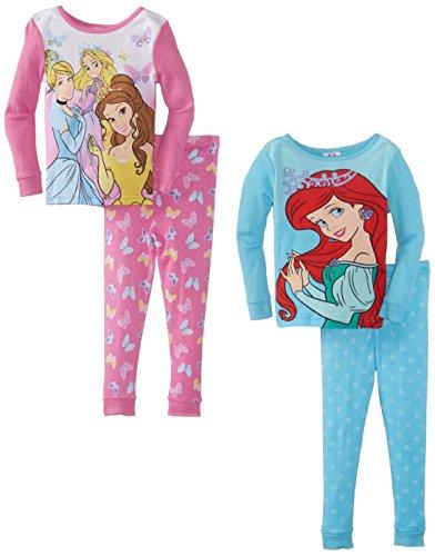 Disney Girls Princess 4 Piece Pajama