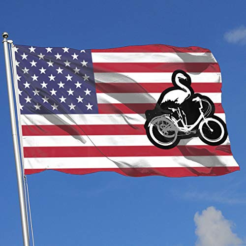 State Tricycle - FQ#8FLAG Flamingo Riding Tricycle Country Banner Flag Family Party Flag Indoor Outdoor Flag 3'X5' House Banner