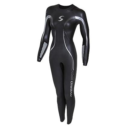 4fa47a9591 Amazon.com   Synergy Triathlon Wetsuit - Women s Hybrid Fullsleeve ...