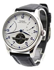 Parnis Men's Automatic Watch Flywheel Energy Display Seagull St2505 Movement by Parnis
