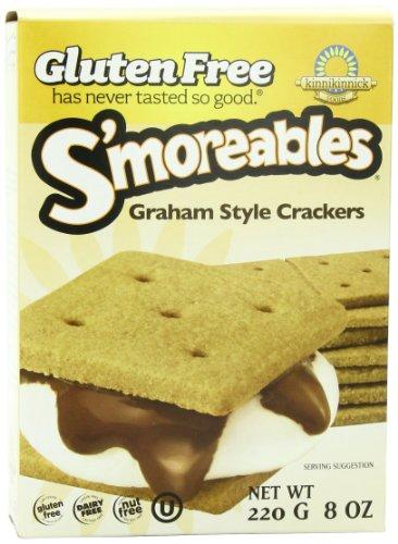 Kinnikinnick Gluten Free S'moreables Graham Style Crackers, 8 Ounce (Pack of 6) Ak Mak Crackers