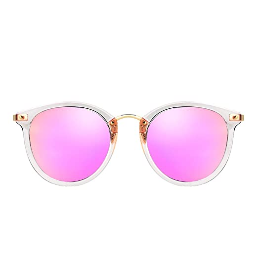 H.ZHOU Caja Transparente Gafas de Sol Rosas para Mujer Cara ...