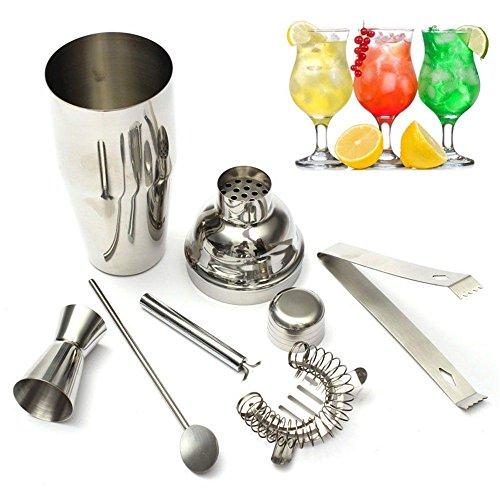 MSPowerstrange Stainless Steel Cocktail Shaker Mixer Drink Bartender Martini Tools Bar Set Kit from MSPowerstrange