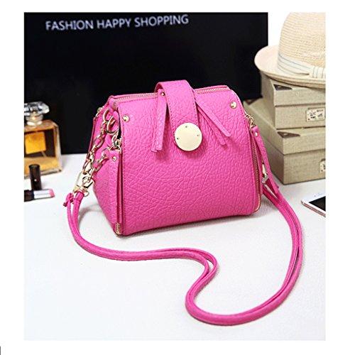 GuoFeng Bolsos de Las Mujeres, nuevos Bolsos de la Manera de la Moda Japonesa y Coreana, Bolsos de Las Correas de Cadena, Bolso del Mensajero, Bolso de Hombro Simple. (Color : Blue) Rose Pink
