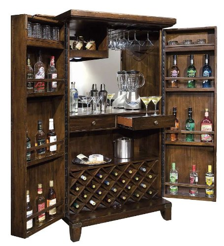 Rogue Valley Wine & Bar Cabinet (Miller Light Bar Stool)