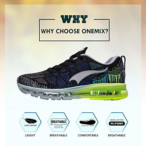 Onemix Damesschoen Voor Buiten Sport Sportschoenen Lichtgewicht Casual Sneakers Zwart / Grijs