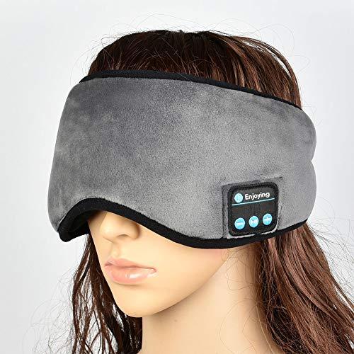 INLAR Antifaz para Dormir con Auricular Bluetooth, para Viajes portátiles, relajación, para Escuchar música y Dormir Suave