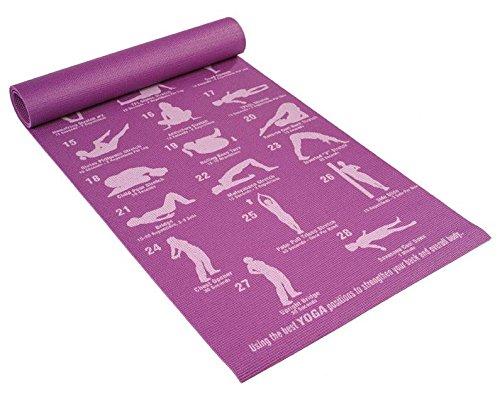 Eco-Friendly 5 mm Double Vein Yoga Mat in Purple Asanas