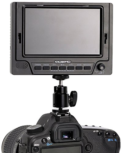 MustHD M501 5-Inch 800x480 On-Camera Field Monitor (Black)