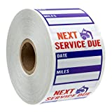 Oil Change/Service Reminder Stickers (500 stickers)