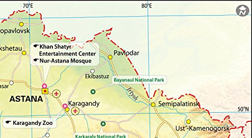 Amazoncom Kazakhstan Map 36 W x 1982 H Office Products