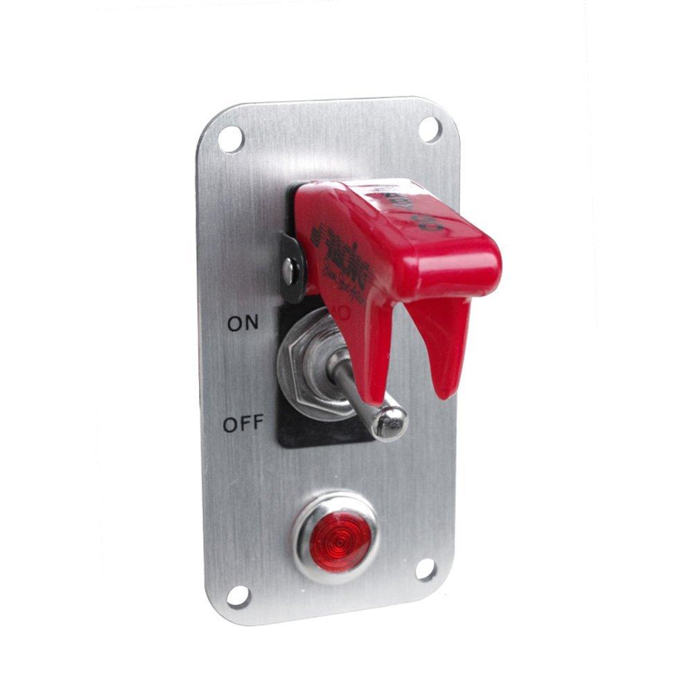 Simoni Racing ISR/3r-l universal switch Panel de cromo, cromo, color blanco