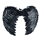 (US) Dazone Black Angel Feather Wings Costume