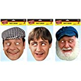 TRIPLE PACK Del Boy, Rodney & Uncle Albert - 3 Only Fools and Horses Licensed Character Face Masks