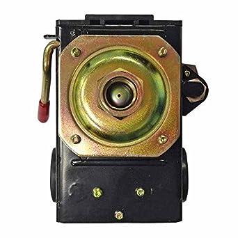 kingfurt Interruptor de presión para compresor de aire 90 – 125 PSI puerto único de Heavy