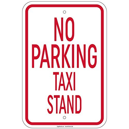 (No Parking Taxi Stand Sign 8x12 Inch Aluminum Signs Retail)