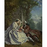 Canvas Prints Of Oil Painting 'After Jean-Franois Detroy-The Game Of Pied De Buf,after 1725' 16 x 20 inch / 41 x 50 cm , Polyster Canvas Is For Gifts And Bed Room, Dining Room And Foyer Decoration