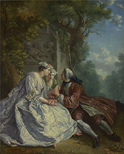 'after Jean Franois Detroy The Game Of Pied De Buf ' Oil Pai