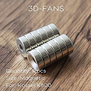 12Pcs/lot 3D Printer Parts Reprap Delta Kossel K800 Round Super Special Magnetic Holder Countersunk Magnet Stacked