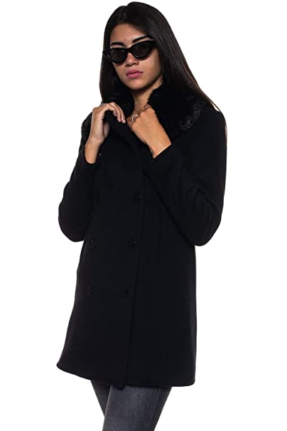 In Armani Emporio Abbigliamento Cappotto Amazon Lana Donna it Da qSTEOdw