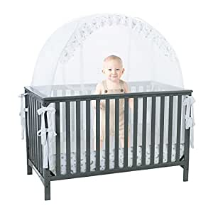 amazon com baby crib safety pop up tent premium baby bed canopy