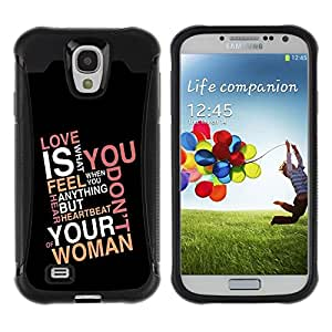 Suave TPU Caso Carcasa de Caucho Funda para Samsung Galaxy S4 I9500 / Love Is What You Feel / STRONG