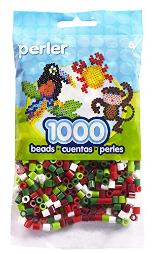 Perler Beads Christmas Mix 2 Bead Bag, 1000 Count