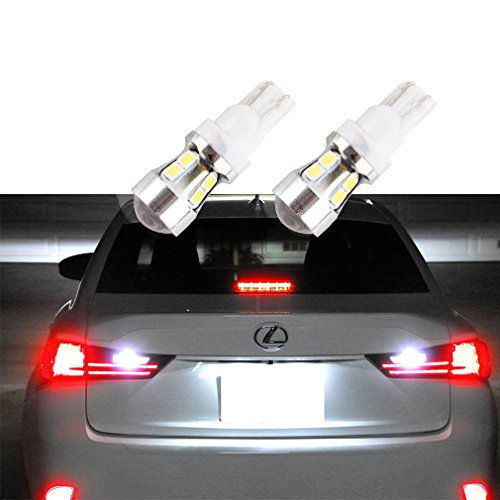 S&D 2 X T10 W5W LED Bulbs For Tail Light Reverse Light - CANBUS Error Free Lamp DC 12V-24V Xenon White