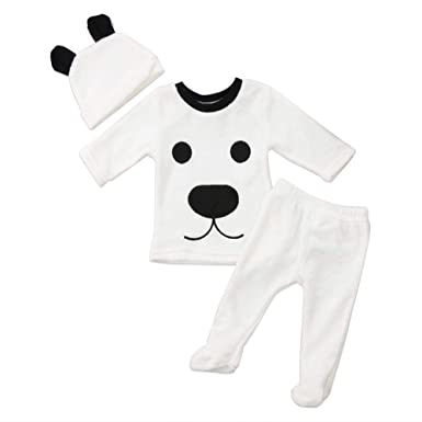 Amazon.com: Baby Clothes Girl Winter Cartoon Tops Pants Baby Boy ...