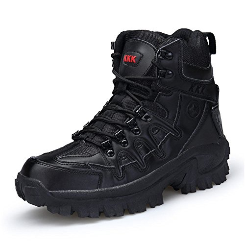 Top High Zipper Boot (ARKE Men Waterproof Hiking Boots Backpacking Boot High Top Trekking Shoes Non Slip Climbing Sneakers)