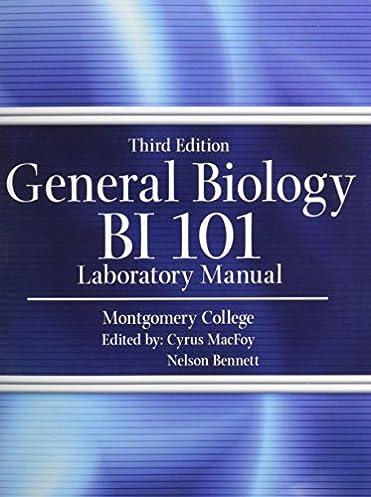 amazon com general biology bi 101 laboratory manual 9781465208194 rh amazon com General Biology Laboratory Manual Biology Laboratory Manual 9th Edition Vodopich Moore