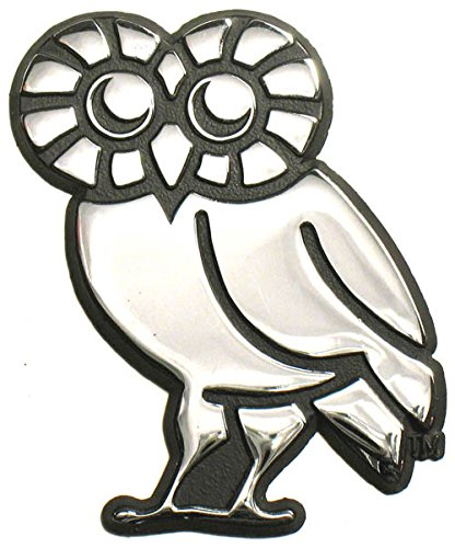 Athenian Collection - Rice Owls Athenian Owl Solid Metal Chrome Emblem AMG