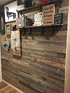 Peel Stick Rustic Reclaimed Barn Wood Paneling Real Wall Planks