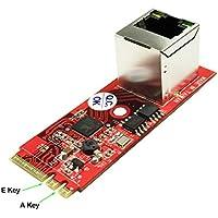 Ableconn M2-NW-107 M.2 Gigabit Ethernet Module - GigaLAN 1000BASE-T PCIe x1 M.2 A-E Key