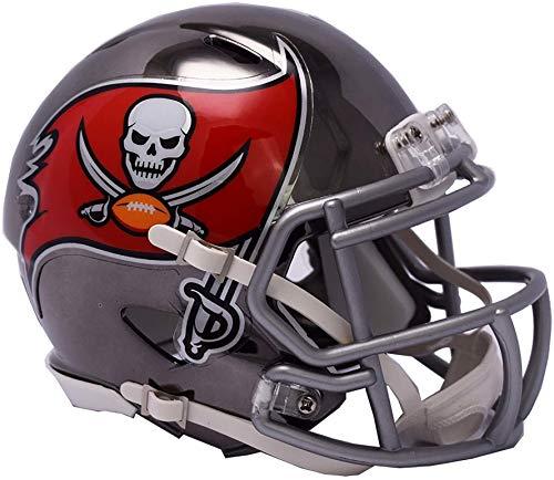 (Sports Memorabilia Riddell Tampa Bay Buccaneers Chrome Alternate Speed Mini Football Helmet - NFL Mini Helmets)