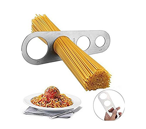 KinTTnyfgi Stainless Steel Spaghetti Measure Tool 4 Holes Pasta Measuring Portion Control Gadgets Kitchen Tool